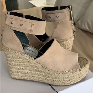 Dolce Vita Wedges- Women's Straw Wedge Sandal